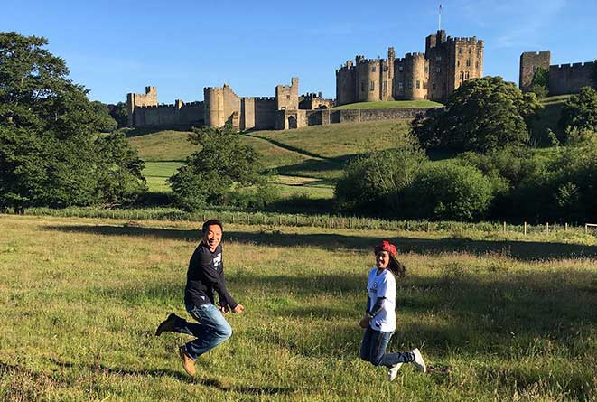 Photo of Wynding Road Tours clients at Alnwick Castle